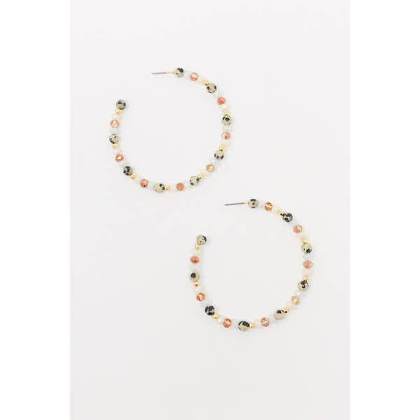 Natural Stone Mix Hoops