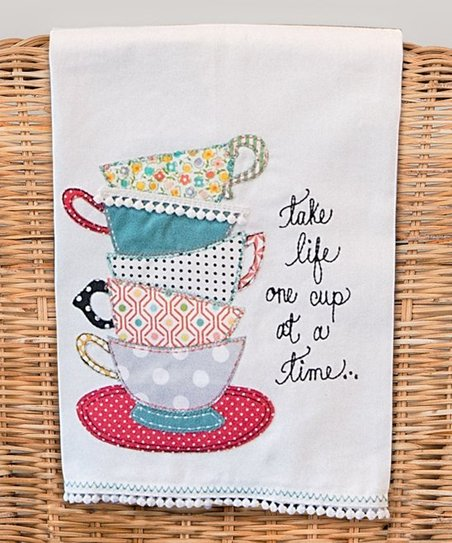 One Cup At A Time Dish Towel