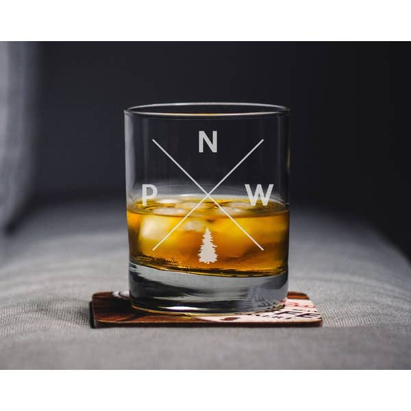 PNW Whiskey Glass
