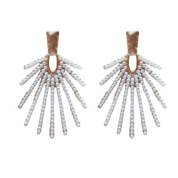 Sunburst Pearl Earrings