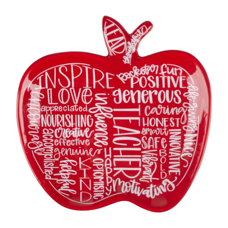 Teacher Apple Trinket Dish
