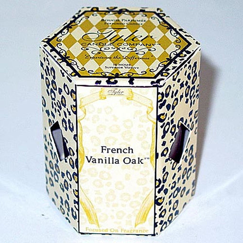 Tyler Candle Votive French Vanilla Oak