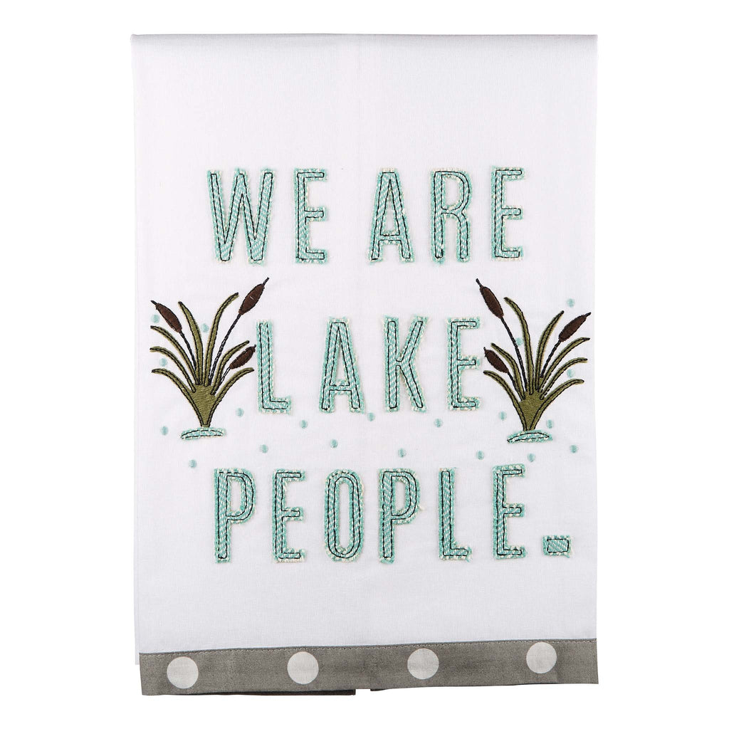 Lake People Dish Towel