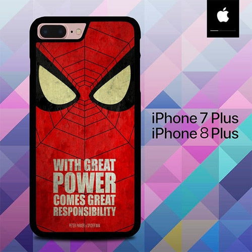 Quotes Spider-man O1255 fundas iPhone 7 Plus , iPhone 8 Plus