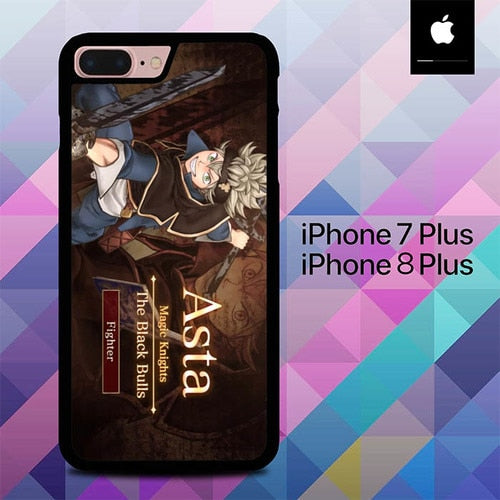 Asta Black Clover Anime O5026 fundas iPhone 7 Plus , iPhone 8 Plus