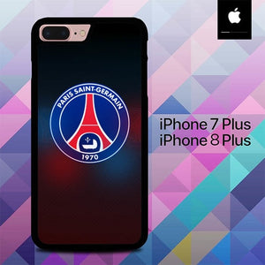 PSG Logo O7502 fundas iPhone 7 Plus , iPhone 8 Plus