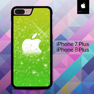 Green Apple Glitter O7574 fundas iPhone 7 Plus , iPhone 8 Plus