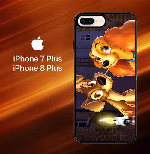 LADY AND TRAMP DISNEY Z1223 fundas iPhone 7 Plus , iPhone 8 Plus