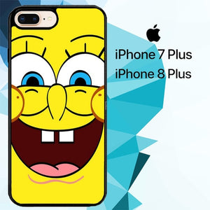 spongebob squarepants face Z4381 fundas iPhone 7 Plus , iPhone 8 Plus