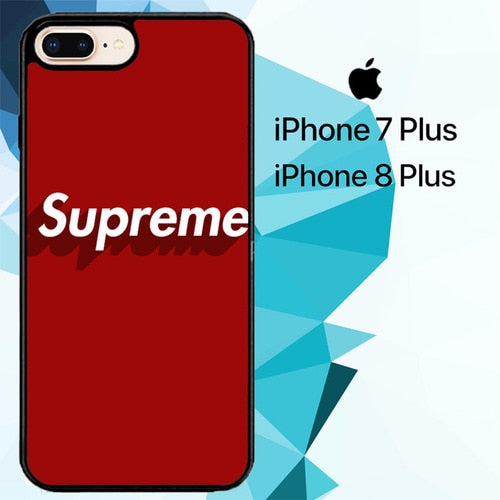 Supreme logo Z5386 fundas iPhone 7 Plus , iPhone 8 Plus