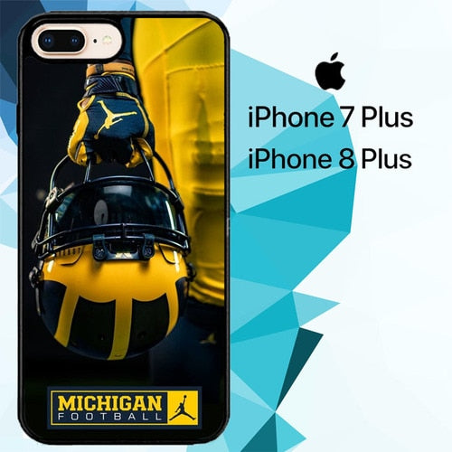 Michigan Football Z4911 fundas iPhone 7 Plus , iPhone 8 Plus