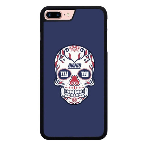 New York Giants Skull X00387 fundas iPhone 7 Plus , iPhone 8 Plus - funda8cover