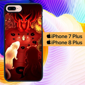 Naruto Animals L0216 fundas iPhone 7 Plus , iPhone 8 Plus
