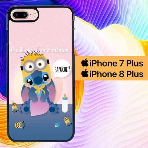 Stitch Papuche L0276 fundas iPhone 7 Plus , iPhone 8 Plus