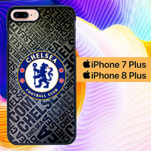 Chelsea Logo Text L2729 fundas iPhone 7 Plus , iPhone 8 Plus