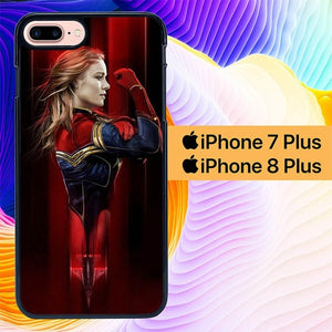 Captain Marvel L2806 fundas iPhone 7 Plus , iPhone 8 Plus