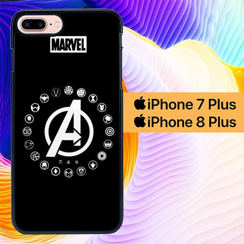 Avengers Logo L2927 fundas iPhone 7 Plus , iPhone 8 Plus