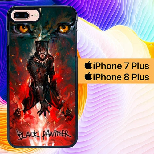 Black Panther Wallpaper L3091 fundas iPhone 7 Plus , iPhone 8 Plus
