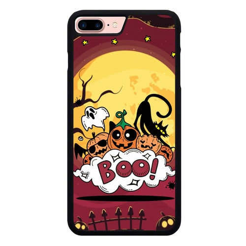 Halloween Boo Doodle L3101 fundas iPhone 7 Plus , iPhone 8 Plus