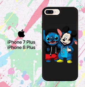 stitch and mickey mouse W8798 fundas iPhone 7 Plus , iPhone 8 Plus