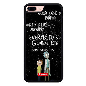 rick and morty W9371 fundas iPhone 7 Plus , iPhone 8 Plus