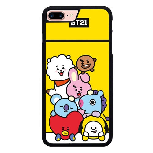 BTS BT21 All Characters P1894 fundas iPhone 7 Plus , iPhone 8 Plus