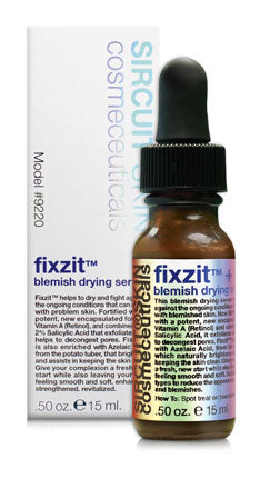 Fixzit + Blemish Drying Serum .50 oz. l 15 ml.
