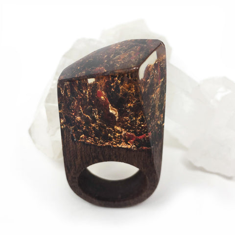 Red Dragon Resin Ring
