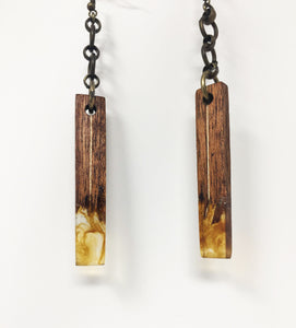 Wood Resin Earrings