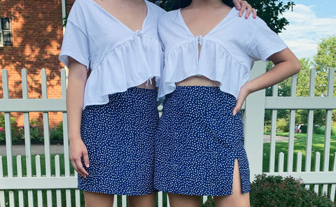 The Navy Speckled Skirt