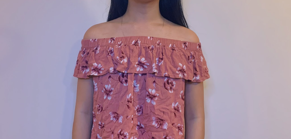 Off the Shoulder Floral Ruffle top