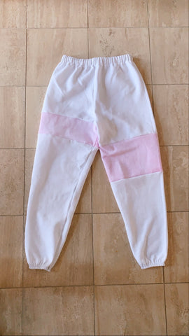 strawberries and cream patchwork sweatpants