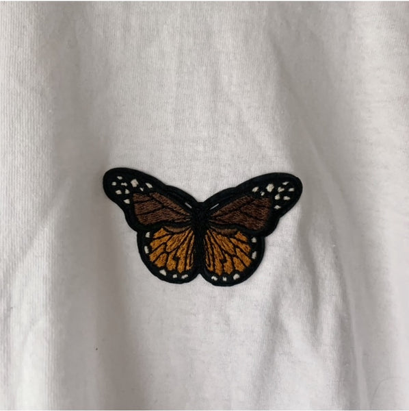 The Coffee Butterfly Crop Top