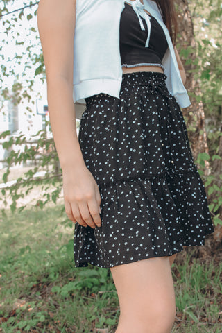 The Wildflower Skirt: Black
