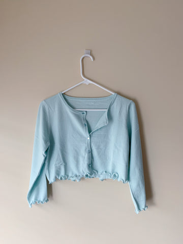The Mint Cropped Sweater