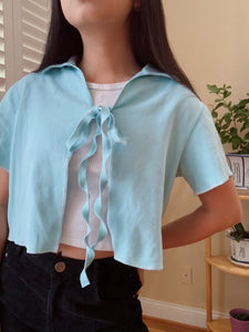 The Periwinkle Tie Top