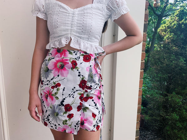The Floral Wrap Skirt