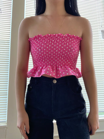 The Pink Retro Crop Top