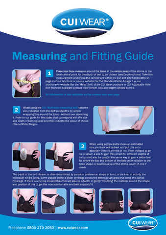 CUI Measuring and Fitting Guide