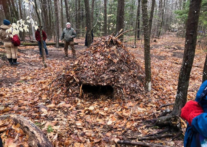 Debris hut workshop
