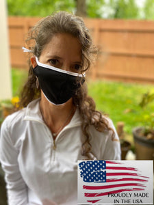 Made in the USA Black/WhiteMicrofiber Masks