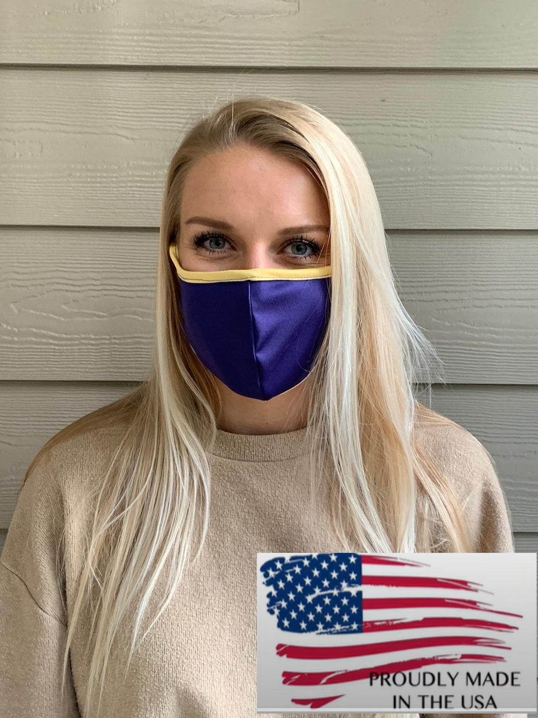 Made in USA Purple/Gold Masks