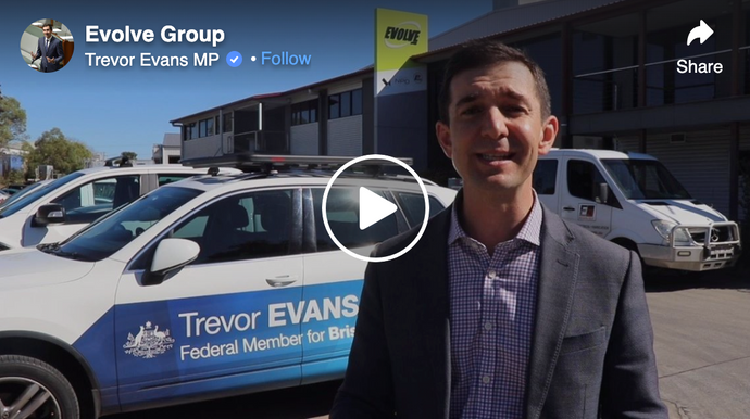 Trevor Evans MP Visits Evolve Group's Queensland PPE Manufacturing Facility