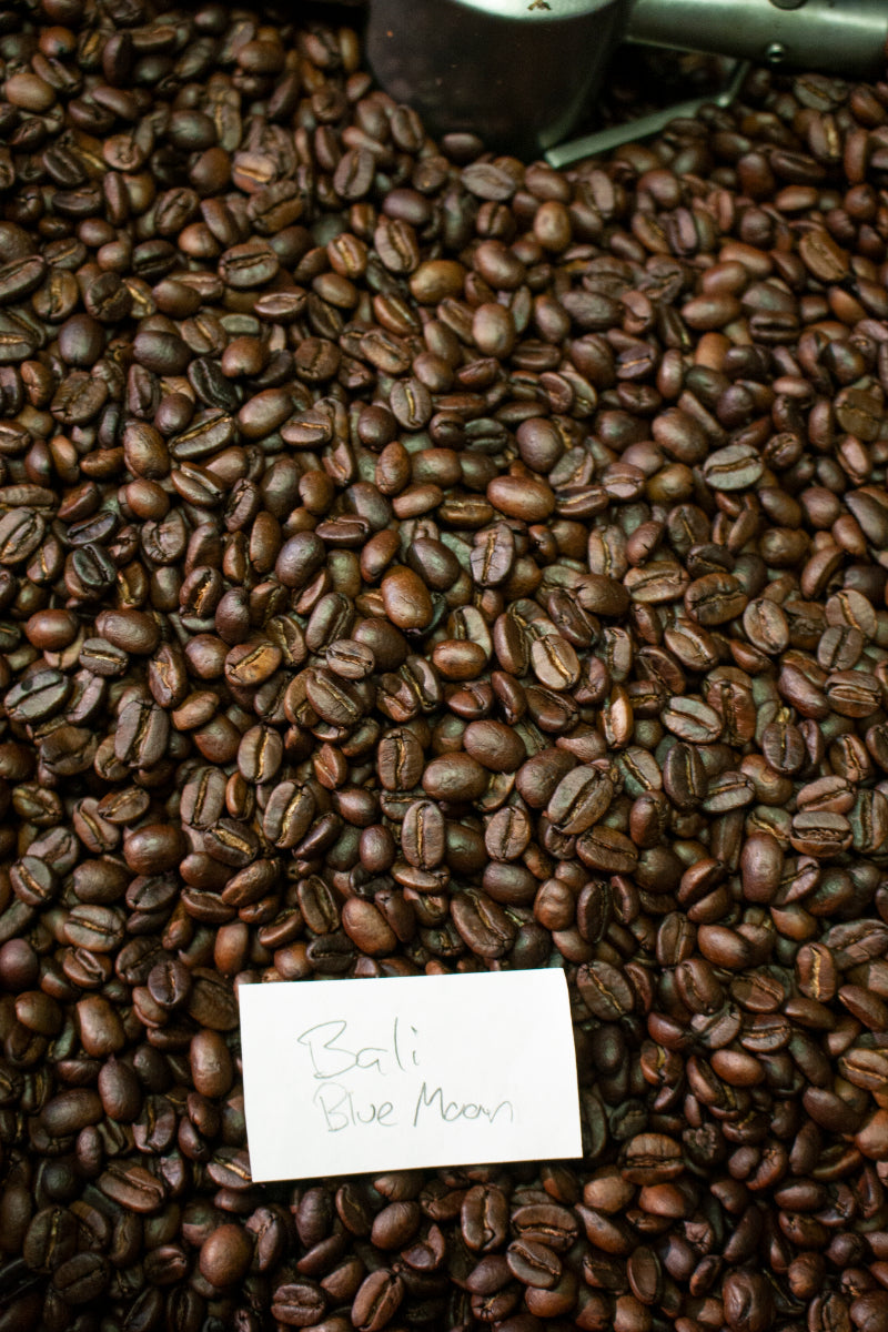 Image of Bali Blue Moon beans in roaster