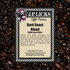 JP Licks Dark Roast Blend Label