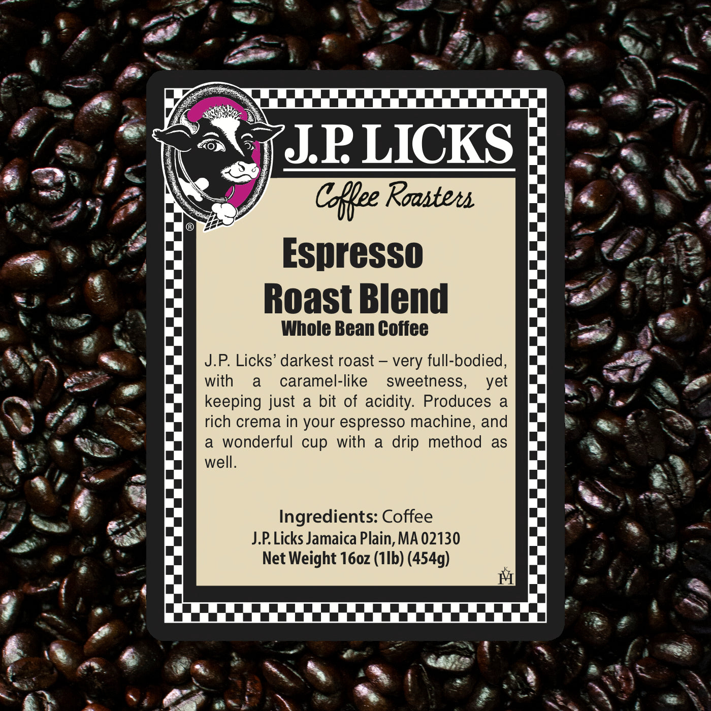 JP Licks Espresso Roast Blend Label