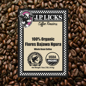 JP Licks Flores Bajawa Ngura Whole Bean Coffee label front