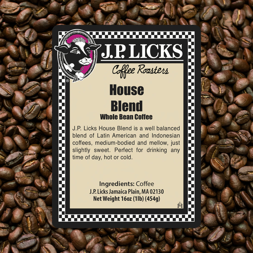 JP Licks House Blend Front label