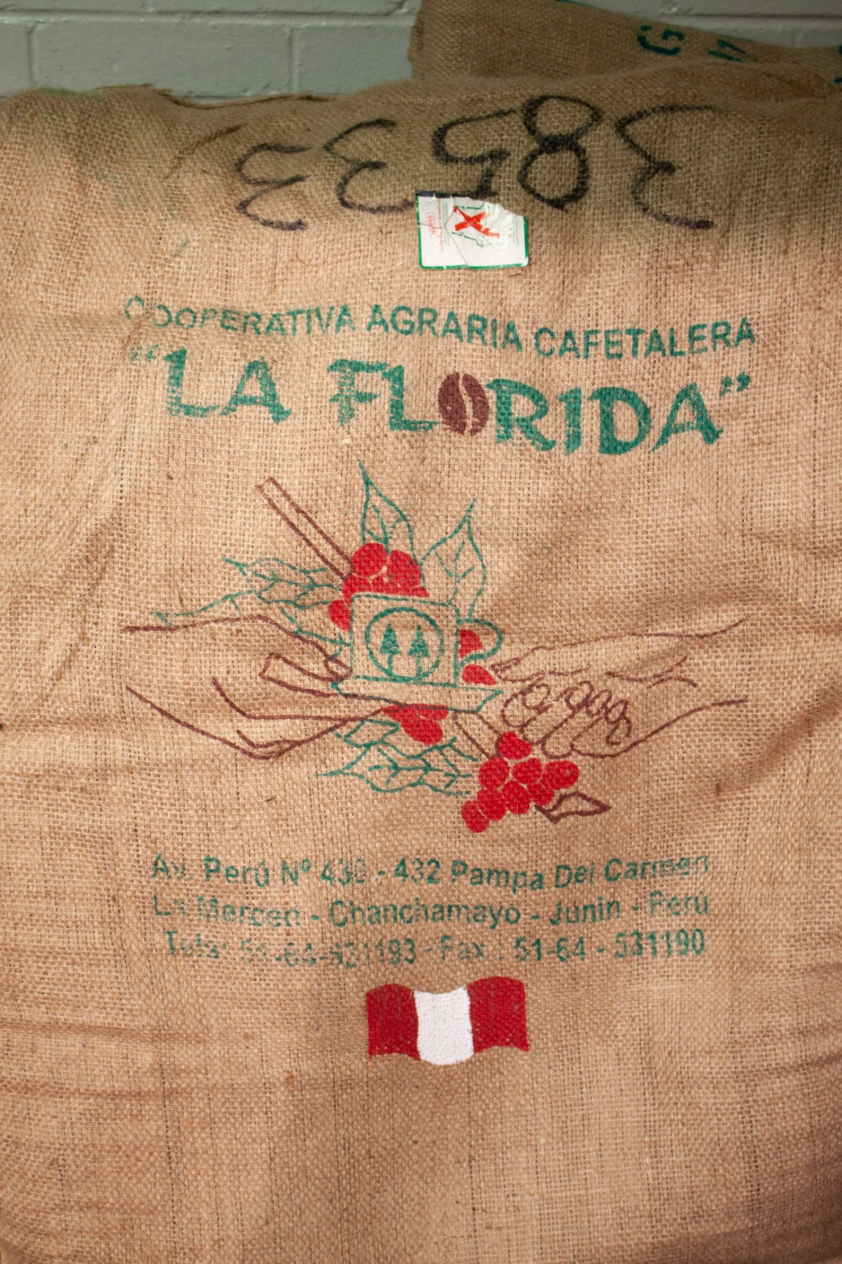 Peru la Florida unroasted beans bag