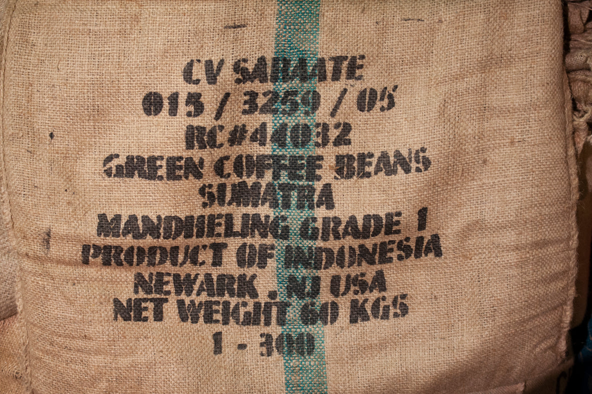 Sumatra Mandheling Coffee bean bag